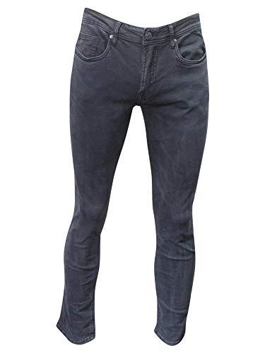 Buffalo David Bitton Ash-X Veined & Sanded Black Slim Stretch Jeans Sz: 32x32