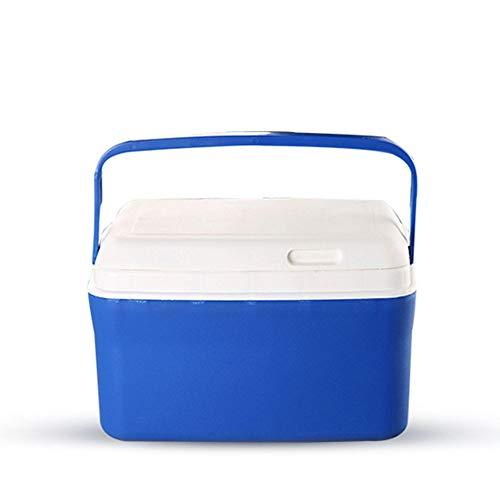 Canness-Home Eistruhe Rotationsgeformte Kühlbox Tragbarer Strandkühler Eiskühler für Trockeneis Großes Geschenk für Outdoor-Camping (Farbe : Blau, Größe : 37 * 26 * 27cm)