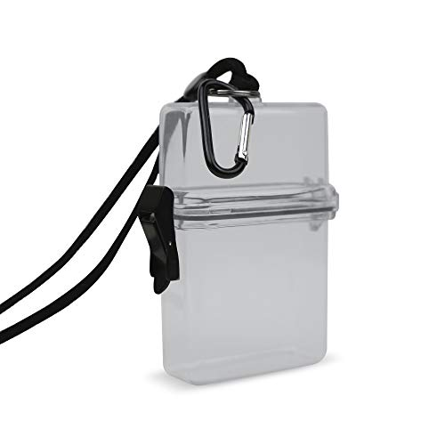 Gear Beast Waterproof Case ID/Badge Holder Case Perfect Dry Box for Sports amp Outdoors Small