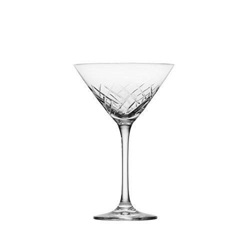 Schott Zwiesel Tritan Crystal Glass Distil Barware Collection Arran Martini Cocktail Glasses (Set of 6), 8.5 oz, Clear
