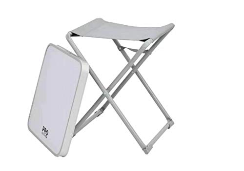 PRO ACTION 2 in 1 Stool and Table Portable Camping Chair Picnic Table for Outdoor Indoor Kitchen Garden Party Compact Small BBQ Picnic Table, Easy Storage Lightweight