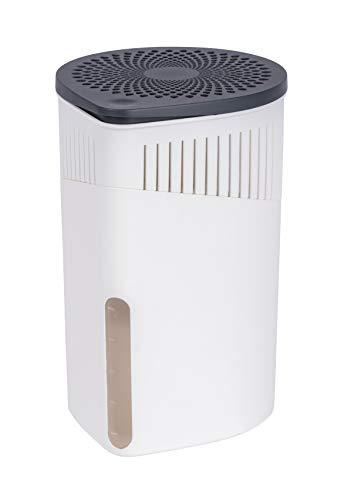 WENKO Raumentfeuchter Drop Weiß 1000 g - Luftentfeuchter Fassungsvermögen: 1.6 l, Kunststoff (ABS), 15 x 23 x 15 cm, Weiß
