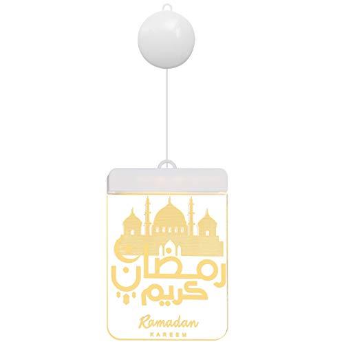 Beaupretty Ledラマダンぶら下げ夜景イードムバラクラマダンの装飾イスラム教徒のペンダント装飾品バッテリなしスタイル2
