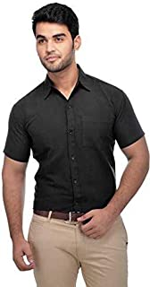 JAYLO KHADI Formal Khadi Plain Half Sleeve Shirts for Mens & Boys