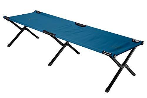Grand Canyon Topaz Camping Bed M - Faltbares Camping-Bett aus Aluminium - Klappbares Outdoor Feldbett - Dark Blue (blau)