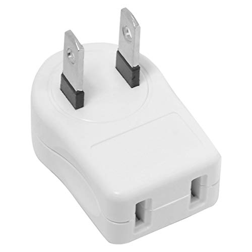 CY NEMA 1-15P USA Outlet Saver Extension Adapter 2-Prong 2 Outlets 90 Degree Up Down Angled