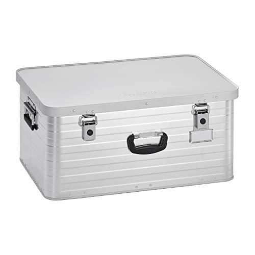 Enders Alubox 80 Liter + Schloss Set, hochwertig verarbeitet, mit Moosgummidichtung, Alukiste verwendbar als Transportbox und Lagerbox - Alukoffer Lagerkisten Metallkiste Metallbox Aluboxen Alukisten