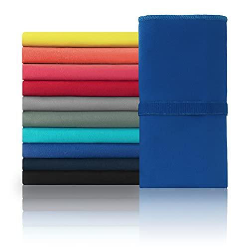 Blumtal Telo Mare Microfibra, Asciugamano Palestra, Asciugamano Microfibra, XL: 180 x 90cm, Blu Scuro