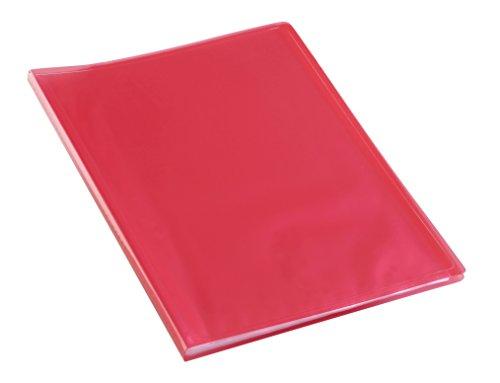 Viquel - Protège documents 80 Vues (40 pochettes) - Reliure Format A4 - Fabriqué en France - Rouge translucide