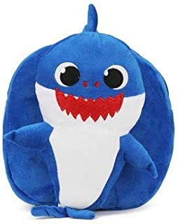 Babyfit Babyshark Kids School Backpack Baby Shark Nursery Preschool Bag for Children Kids Cute Plush School Backpack Boys Schoolbag Pinkfong Style (Blue)