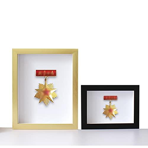 ABCSS Marco de exhibición de medallas,Expositor de medallas,Marco de Fotos de Almacenamiento de Insignias,Marco de Fotos Tridimensional,Tira de Marco de polímero PS