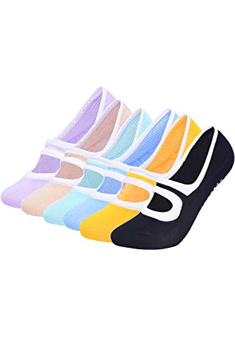 PowerLife ® Yoga Socken für Damen rutschfest, Ideal für Yoga Pilates, Ballett,Tanz,Barre,Fitness, Barfuß-Training, Trampolin