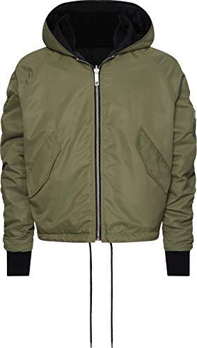 Tommy Hilfiger Men's Lewis Hamilton Reversible Bomber Jacket, Capulet Olive, L