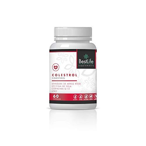 Tratamiento para el Colesterol | Reduce y Controla los niveles de Colesterol | Levadura Arroz Roja, Coenzima Q10 y Monacolina K | Cuida y Fortalece la Salud Cardiovascular | 60 Caps.