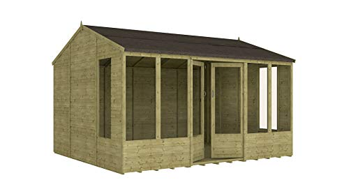 Project Timber 12ft x 10ft Pressure Treated Hobbyist Summerhouse (12 x 10)