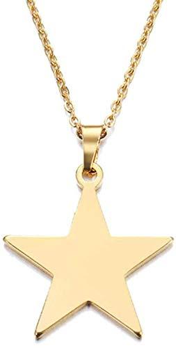 NC110 Collar de Acero Inoxidable con Colgante de Pentagrama, tamaño de la joyería 45cm YUAHAOJIGE8