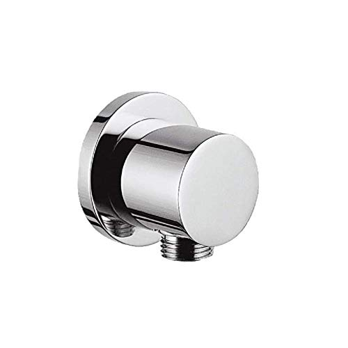 Wandanschlussbogen rund Dusche Brauseschlauch | Schlauchanschluss | Messing | Anschluss Handbrause | Bad & Dusche | Wandanschluss