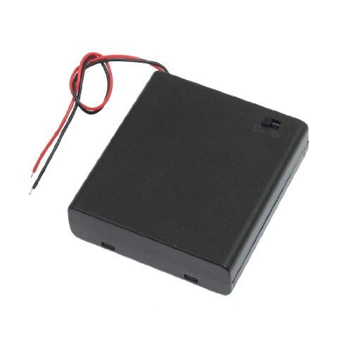 EN/DESCUENTO Interruptor 14cm Lidera Carcasa De Pila Caja Porta Equipaje para 4 x 1.5V pilas AA