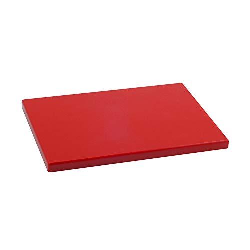 Metaltex PE-500 Tabla de Cocina, Polietileno y Plástico, Rojo, 29 x 20 x 1.5 cm