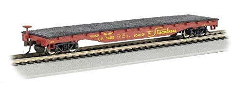 Bachmann Trains 17303 52' Flat Car - Union Pacific #59486 - HO Scale, Prototypical Colors