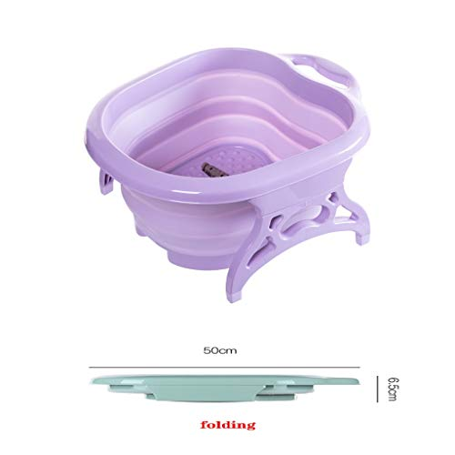 Sdfhh Bathroom Collapsible Foot Bath Foot Wash Basin Foot Spa Bucket Foot Soaking Tub, Pedicure, Detox, Massage The Best Helper in The Bathroom (Color : Pink)