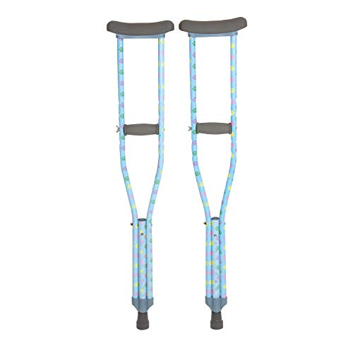 My Crutches - Fashion Designed Youth Junior Crutches for Kids/Teens w Adjustable Handgrip and Length - Dog PAW - for Heights 4'5' to 5'2' - Made of Lightweight, Durable Aluminum w Underarm Padding