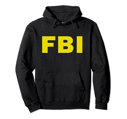 Disfraz del FBI de la Oficina Federal de Investigaciones Sudadera con Capucha