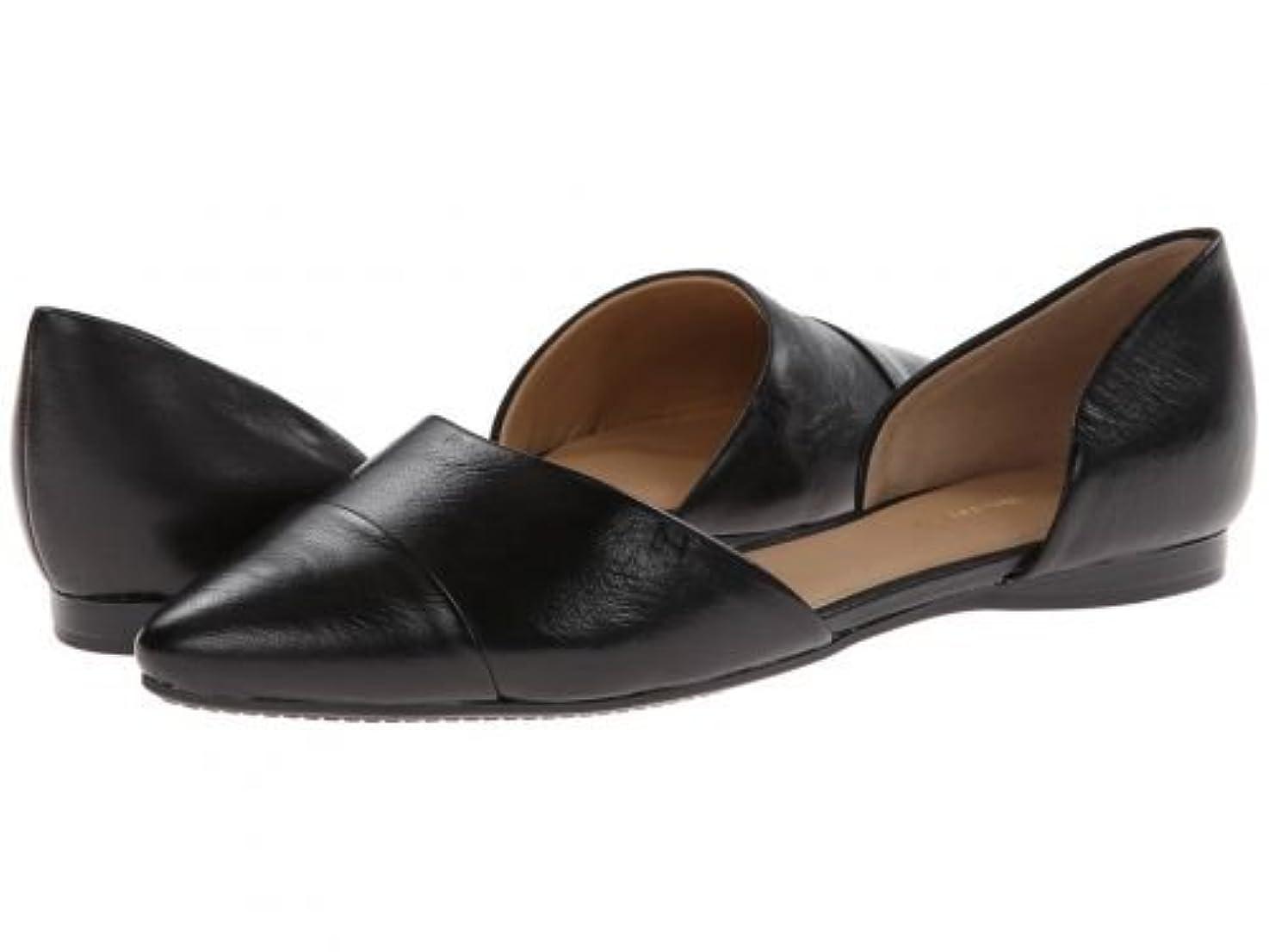 味方ピアノを弾くコーチTommy Hilfiger(トミー ヒルフィガー) レディース 女性用 シューズ 靴 フラット Naree3 - Black Nappa Lea [並行輸入品]