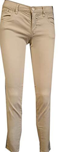 Herrlicher Damen Touch Cropped Satin Powerstretch Hose, Beige (Feather 172), W(Herstellergröße: 26)