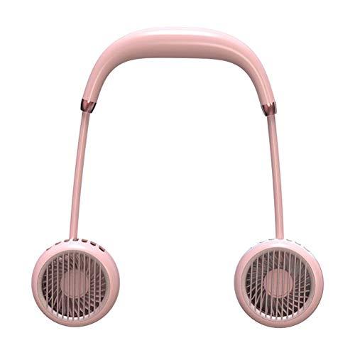 BOQIAN Mini Ventilador Personal USB, Ventilador de Collar con Colgante portátil, Ventilador de Collar portátil para Deportes, Viajes en casa, Oficina, Camping