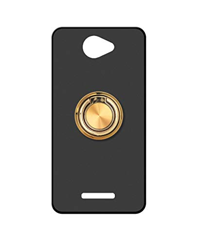 Sunrive Kompatibel mit alcatel Flash Plus 2 Hülle Silikon, 360°drehbarer Ständer Ring Fingerhalter Fingerhalterung Handyhülle matt Schutzhülle Etui Hülle (A2 Golden) MEHRWEG