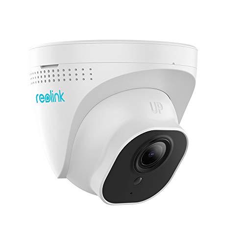 Reolink Cámara Vigilancia IP PoE Exterior, 5MP Super HD, 3X Zoom óptico, IP66 Impermeable Visión Nocturna Audio Ranura SD Incorporada Interior Hogar Cámara Seguridad, RLC-522