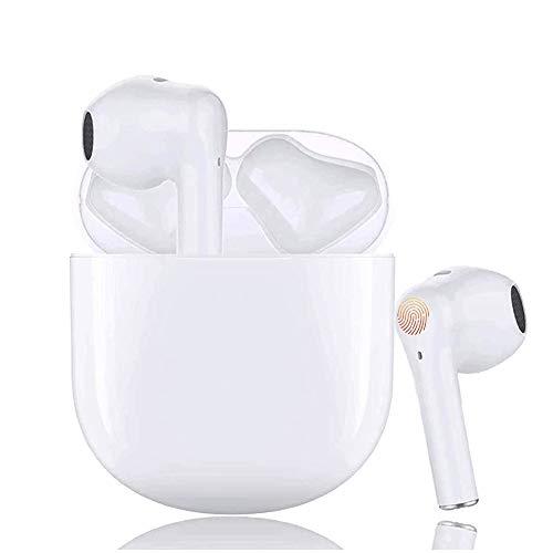 Auriculares Bluetooth Auriculares inalámbricos IPx5 a Prueba de Sudor Auriculares 3D estéreo a Prueba de Agua Toque Auriculares Deportivos Funciona Compatible con Android/Airpods/iPhone/Apple/Tablets