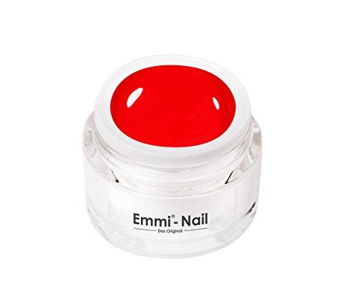 Emmi-Nail Farbgel Emmi Red: Veganes UV-Gel für glänzendes Finish, hohe Deckkraft, knalliges Rot, mittelviskos, kein Verlaufen in die Nagelränder, 5 ml
