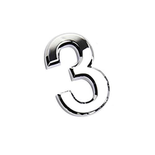 Jiuyue nummerplaat, digitaal, voor deur, 0 tot 9 cijfers, kunststof, dag, hotel, huis, zelfklevend, deurstickers