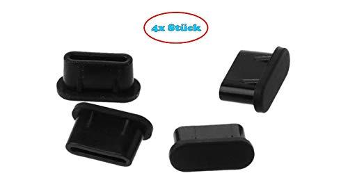 KRS - 4xDPG- Staubschutz Kappe Stöpsel USB-C Schutz Galax. A3 A5 A7 S8 S9 S10 S20 Huaw. P10 P20 P20 Pro P30 (4xDP-G)