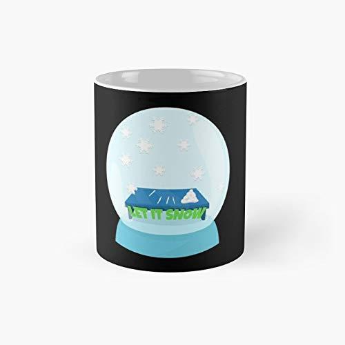 Let It Snow - Taza, diseño de globo de invierno