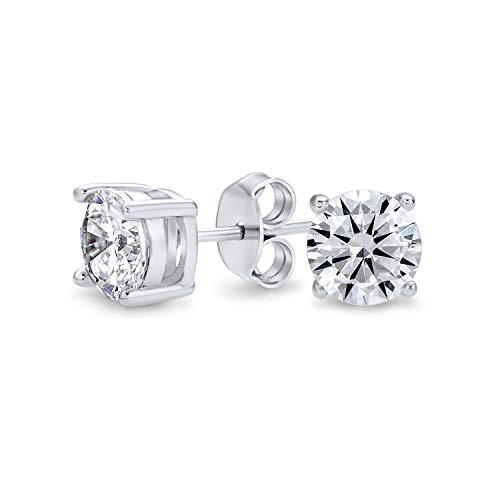 6 Ct Brilliant Cut Round Solitaire Stud Earrings For Women For Men For Girlfriend 4 Prong 925 Sterling Silver 10MM
