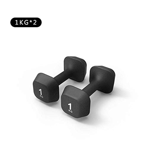Dumbbells Free Weights, Cast Iron Hex Dumbbell, Ergonomic Non-Slip Comfort Grip - Exercise Weights for Core and Strength Training,A
