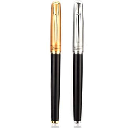 JSNRY Füllfederhalter, Art Nebel Gold-gebogener Spitze Stift, gebogene Spitze Pen Kalligraphie Studenten Kalligraphie Kalligraphie-Feder (Gold, 13,6 * 1,2 cm) Stift