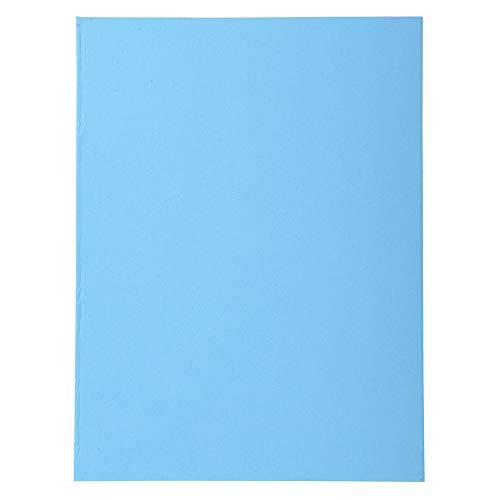 Exacompta 410010E - Lote de 100 Subcarpetas Forever® 250, Color Azul