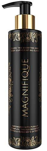 Onyx Magnifique Sunbed Dark Tanning Lotion Bronzing Accelerating Dark Tan Result Luxury Skin Treatment Push-Up Complex Coffee Tamanu Oil Blend Lightweight Formula