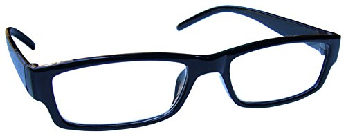 The Reading Glasses The Reading Glasses Company Kurzsichtig Fernbrille Kurzsichtigkeit Herren Damen Leicht Komfortables M32-1 -1, 00 / Schwarz