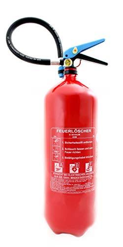 Feuerlöscher Schaum 6L Fettbrand ABF mit Manometer Orig. ANDRIS® DIN EN3 mit Prüfnachweis, Löschdecke 1m x 1m, ISO Symbolschild, Halterung