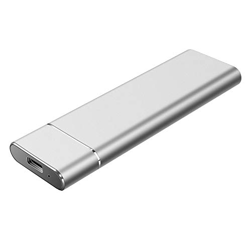 Proking Disco Duro Externo Portátil 1TB, Type C USB3.1 Disco Duro para PC, Mac, Desktop, Laptop, MacBook, Chromebook, Xbox One, Xbox 360 (2TB, Plata)