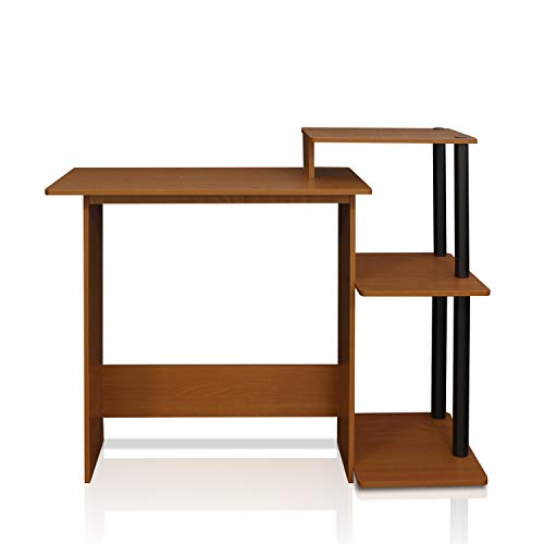 Furinno 11192LC/BK Efficient Computer Desk, Light Cherry/Black