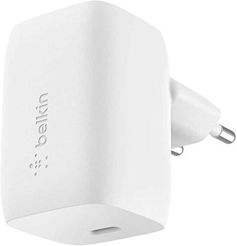 Oferta de Belkin cargador de pared GaN USB-PD de 60 W Boost Charge (cargador rápido USB-C para MacBook, MacBook Pro, iPhone, iPad y dispositivos de Samsung entre otros)