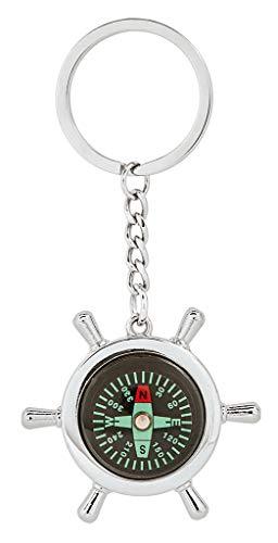 moses. 35022 Piraten - Portachiavi con Bussola e Custodia in Metallo, per Bambini, Colore: Argento