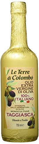 Le Terre di Colombo – Taggiasca Natives Olivenöl Extra - Goldumhüllte Flasche - 0,75 l