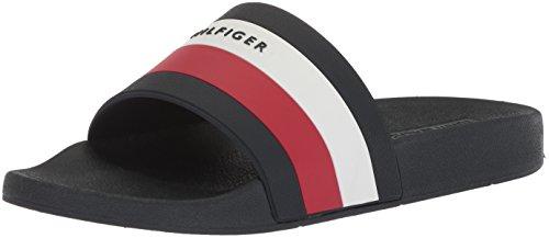 Tommy Hilfiger Men's Earthy Slide Sandal, DARK BLUE SY, 8 Medium US